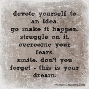 devote yourself